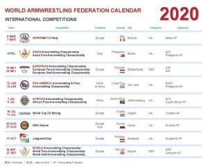 WAF CALENDAR International 2020